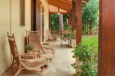 Zona relax giardino azienda agrituristica Il Pago