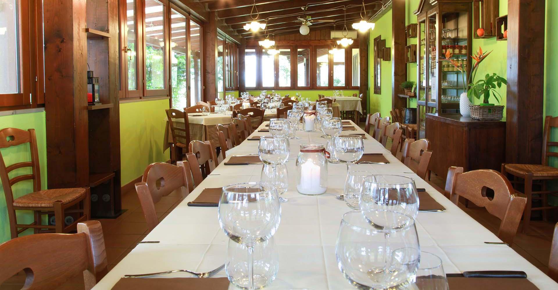 Sala ristorante tipico Il Pago Agriturismo Rotondella