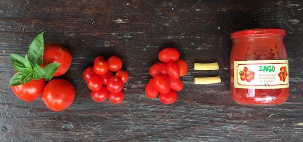 Passata di pomodoro con pomodorini Il Pago